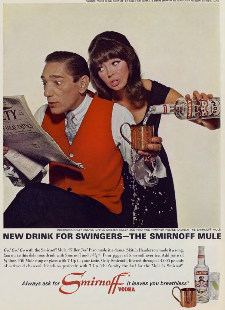 Frank 'Killer Jo' Piro Vintage Ad Smirnoff for Swingers