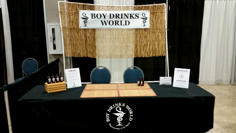 Boy Drinks World Booth Miami Rum Renassaince 2015